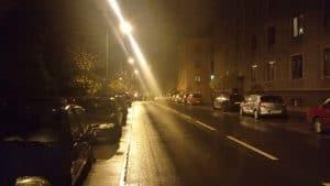Fotka noční silnice Lenovo K5 Note