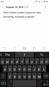 Klávesnice (Xiaomi Redmi 3S)