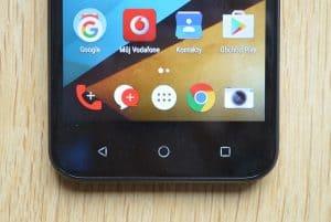 Vodafone Smart prime 7 - senzorická tlačítka