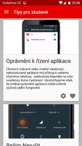 Vodafone Smart ultra 7 - Tipy pro ovládání