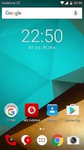 Vodafone Smart prime 7 - úvodní obrazovka
