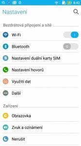 Uživatelské prostředí (Asus Zenfone 3)