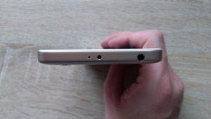 Xiaomi Redmi 4A - horní hrana