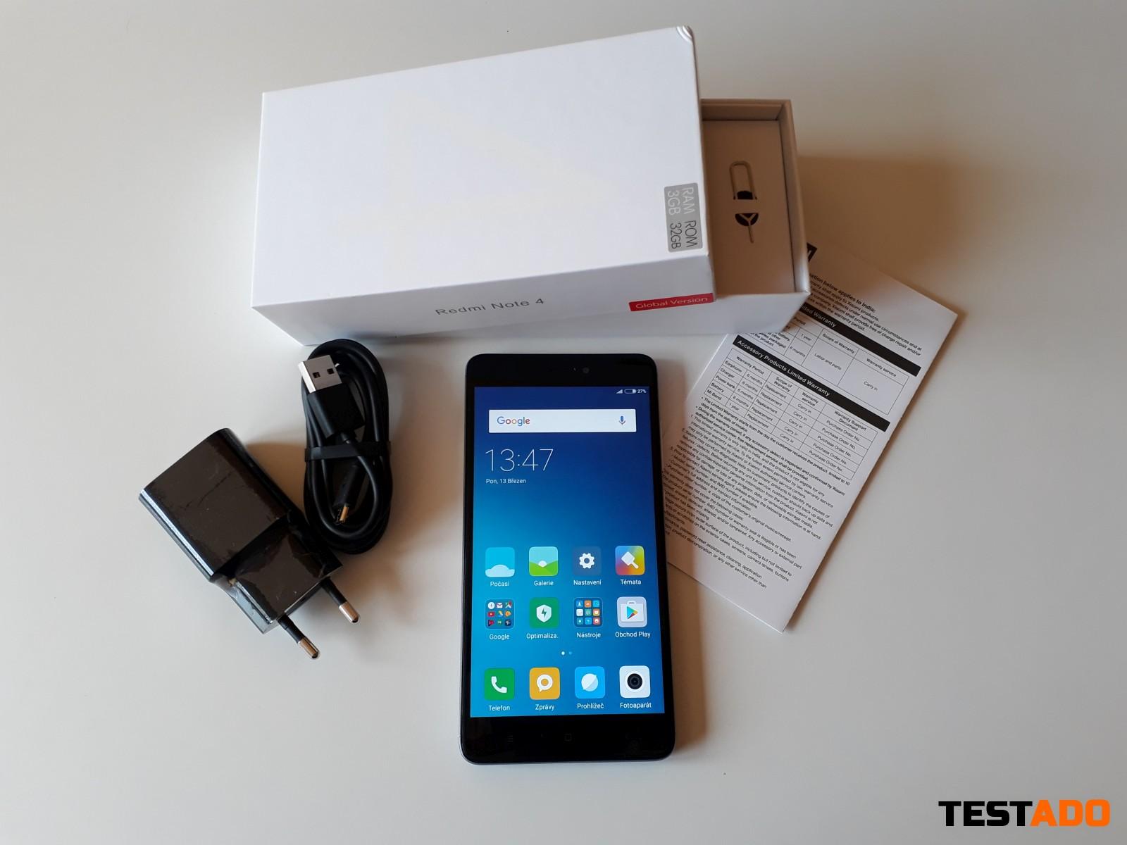 Recenze Xiaomi Redmi Note 4 Global obsah balen Recenze Xiaomi Redmi Note 4 Global obsah balen