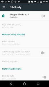 Moto G5 Plus - menu