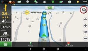 Navitel T700 3G - prostředí