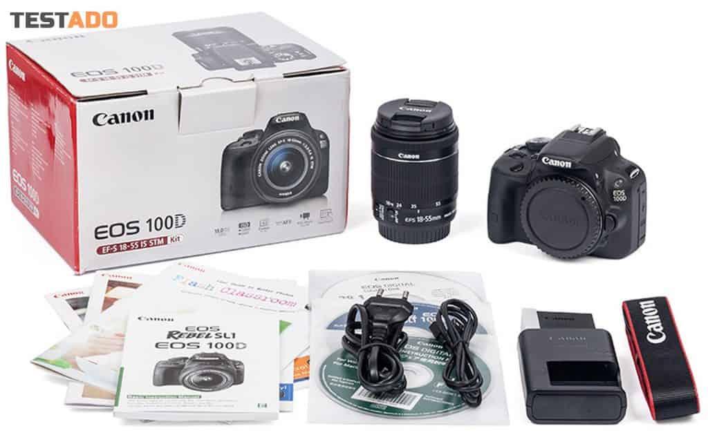 Canon EOS 100D - obsah balení