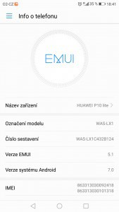Huawei P10 Lite Dual SIM - systém