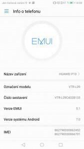 Huawei P10 Dual SIM - prostředí