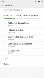Xiaomi Redmi Note 5A Prime - systém