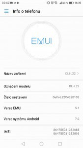 Huawei Honor 6A Dual SIM - systém