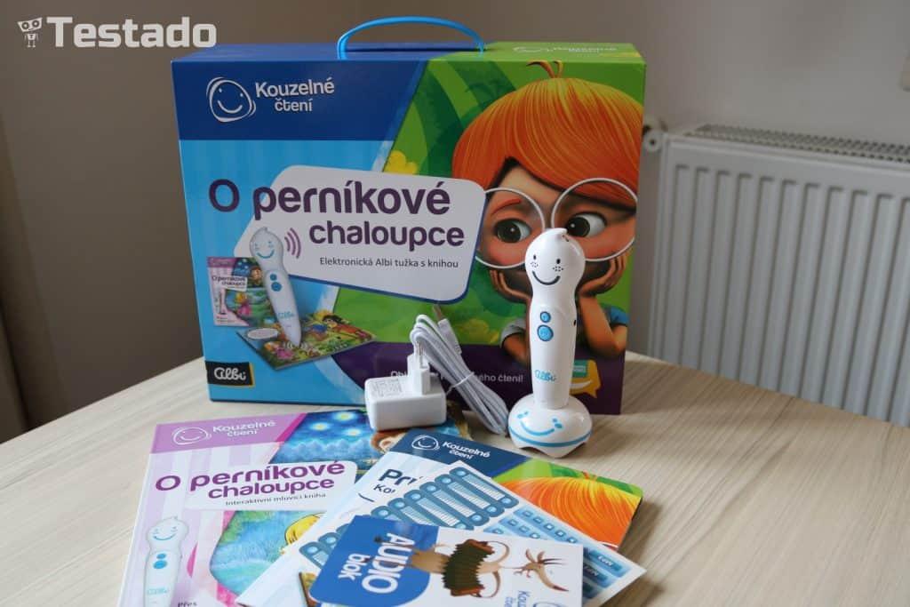Albi Elektronická tužka s knihou Perníková chaloupka - obsah balení