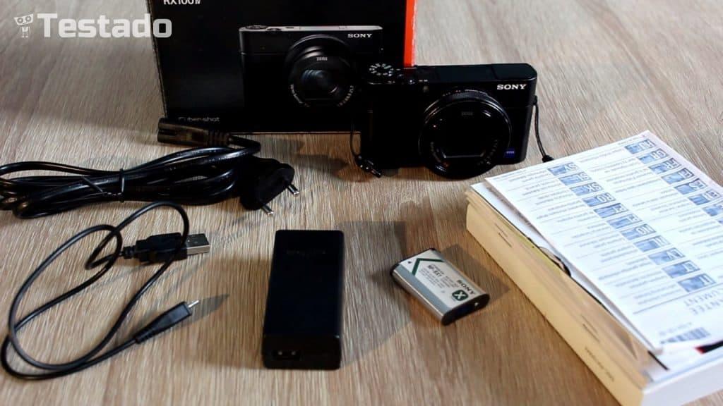 Sony Cyber-shot DSC-RX100IV - obsah balení