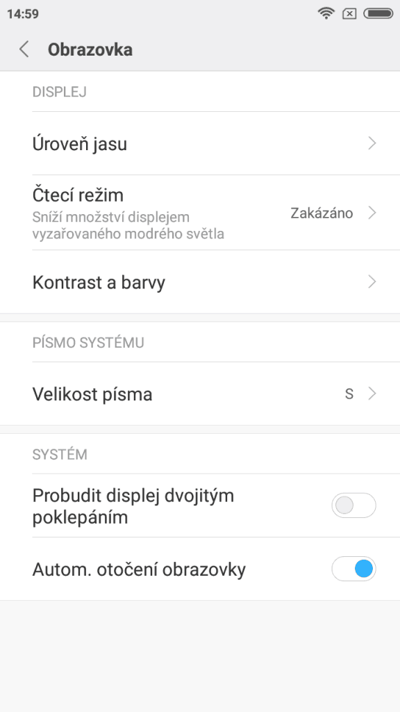 Xiaomi Redmi 5A (2GB/16GB) Global - systém