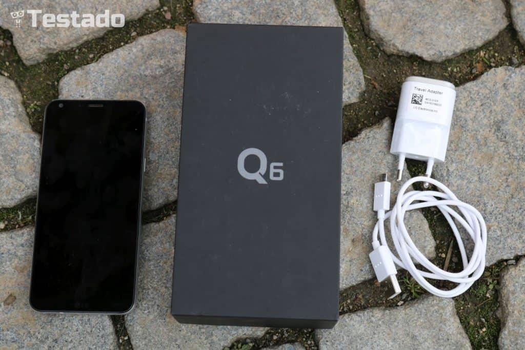 LG Q6 M700N 32GB Single SIM - obsah balení