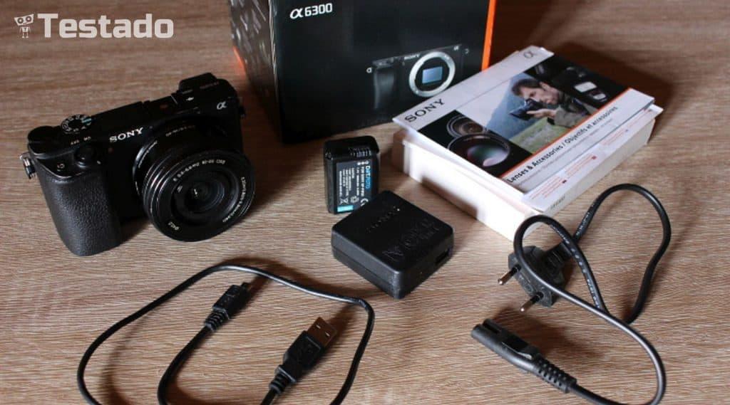 Sony Alpha A6300 - obsah balení