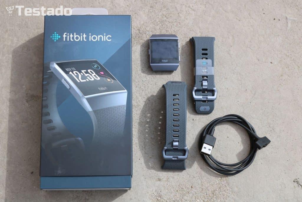 Fitbit Ionic - obsah balení
