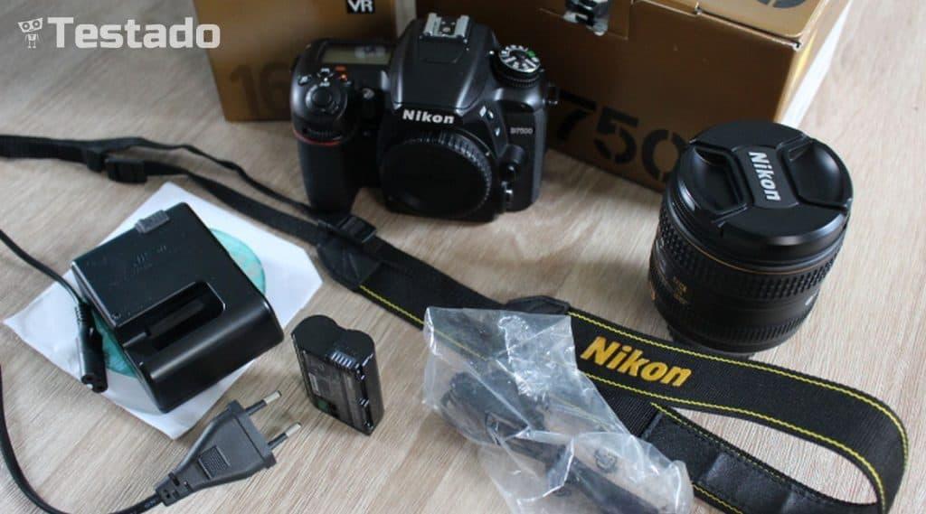 Nikon D7500 - obsah balení