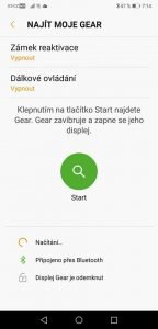 Samsung Gear Sport - aplikace