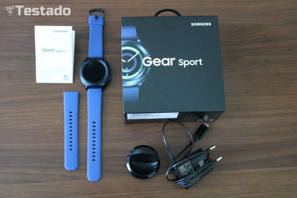 Samsung Gear Sport - obsah balení hodinek