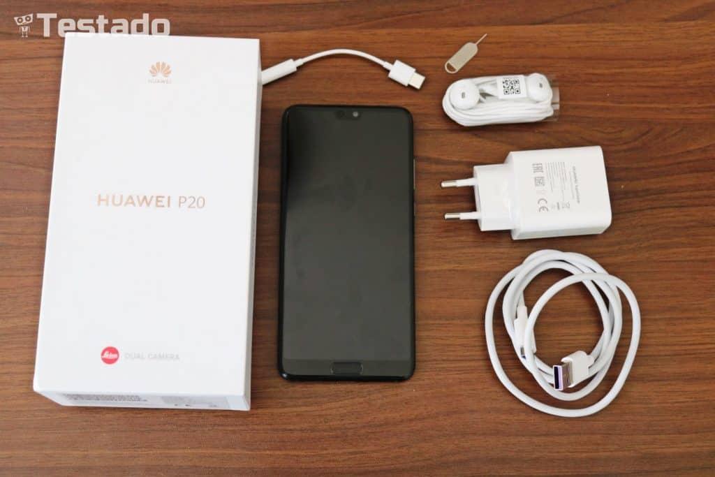 Huawei P20 4GB/128GB Dual SIM - obsah balení