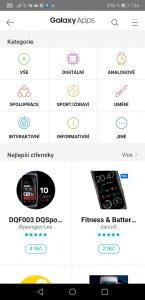 Samsung Gear Fit2 Pro - aplikace