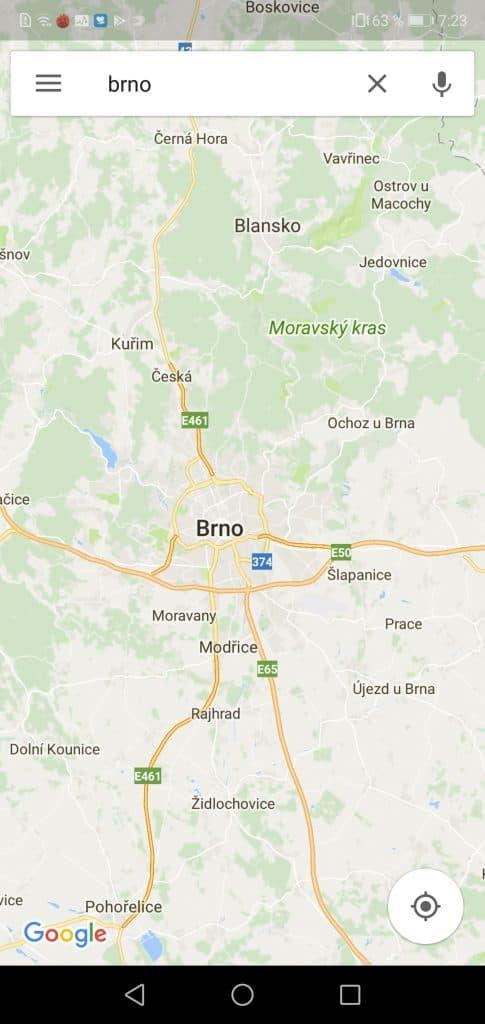 navigace Google maps
