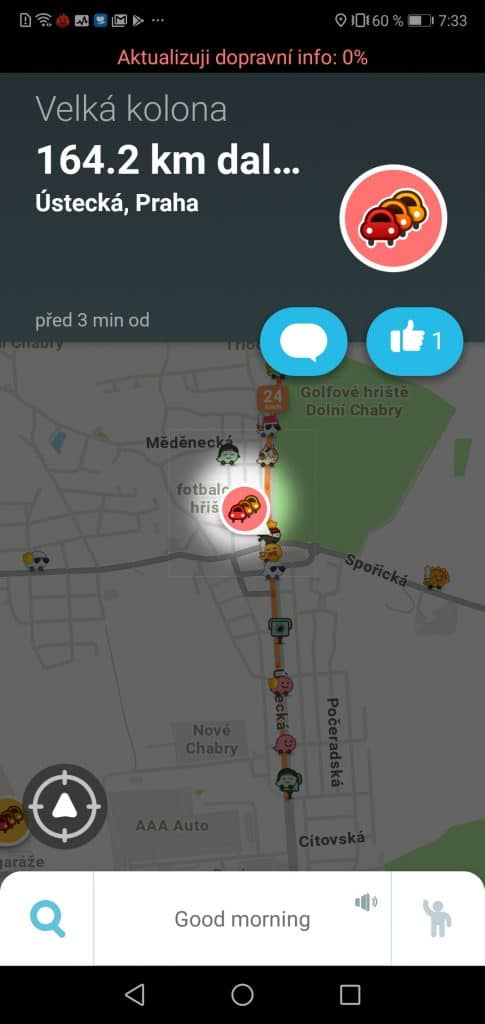 navigace Waze