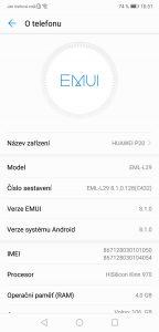 Huawei P20 4GB/128GB Dual SIM - systém