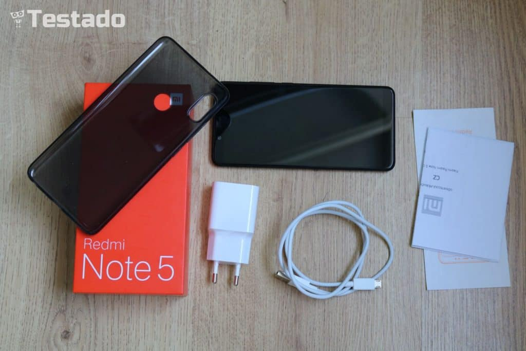 Xiaomi Redmi Note 5 3GB/32GB Global - obsah balení