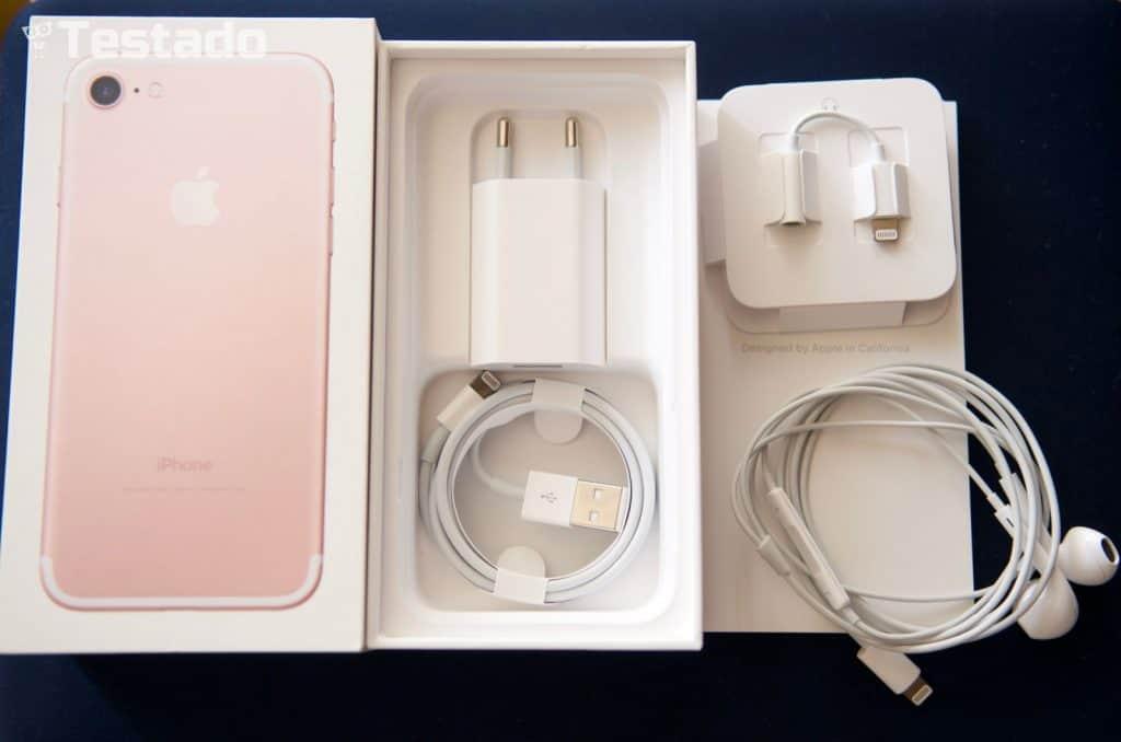 Apple iPhone 7 128GB - obsah balení