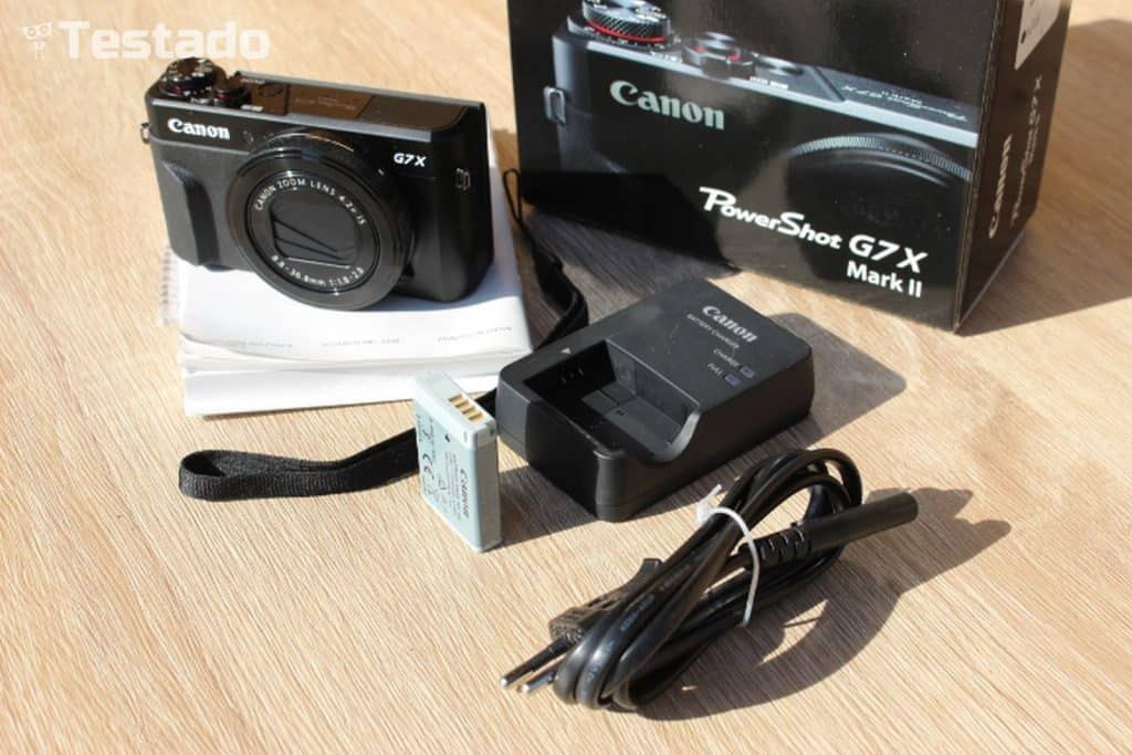 Canon PowerShot G7 X Mark II - obsah balení