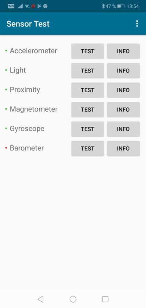 Honor 10 4GB/128GB Dual SIM - senzory