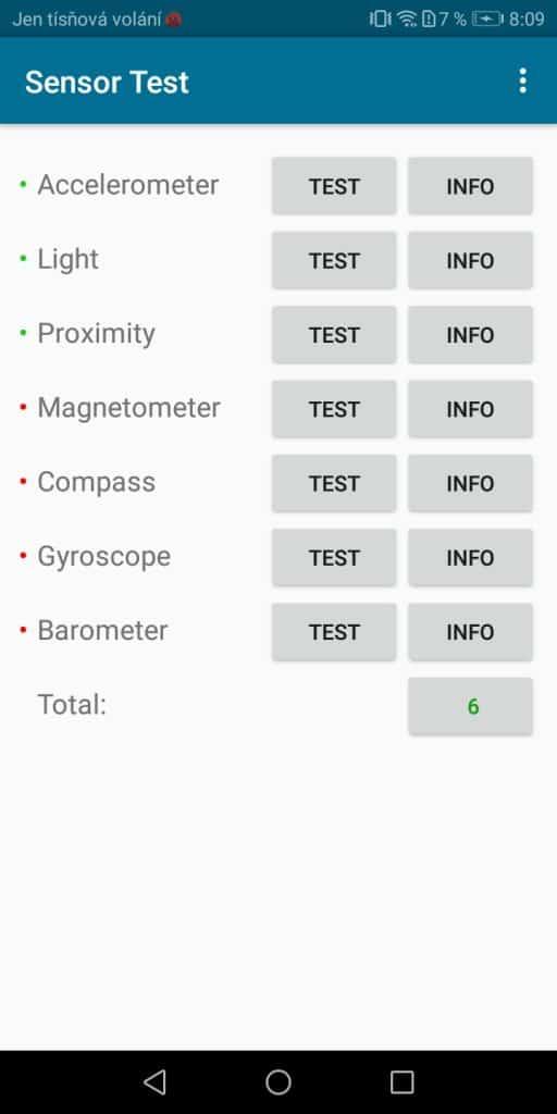 Screenshot_2Huawei Y6 Prime 2018 Dual SIM - senzory