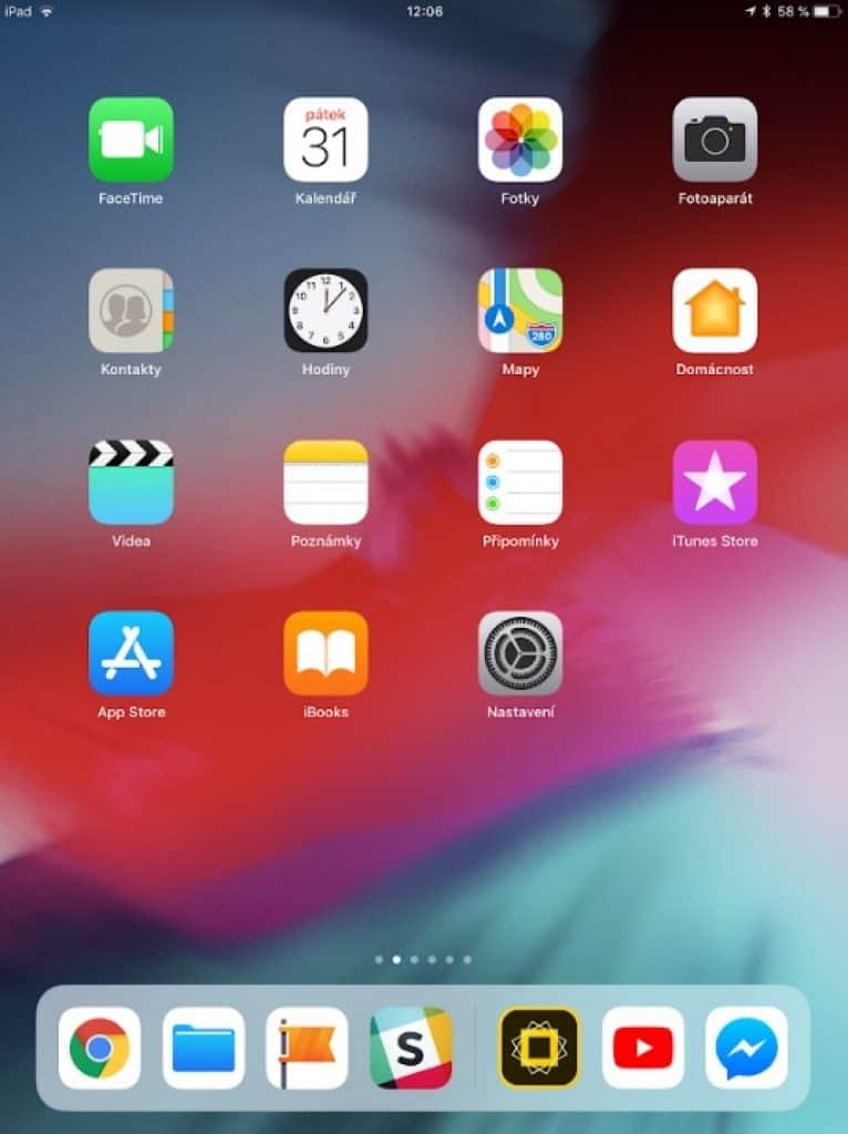 Apple iPad 9.7 2018 - systém