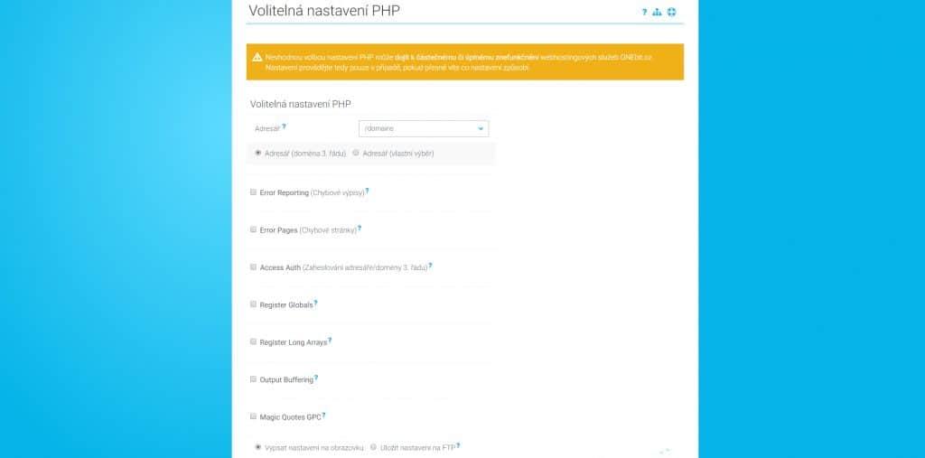 ONEbit admin PHP
