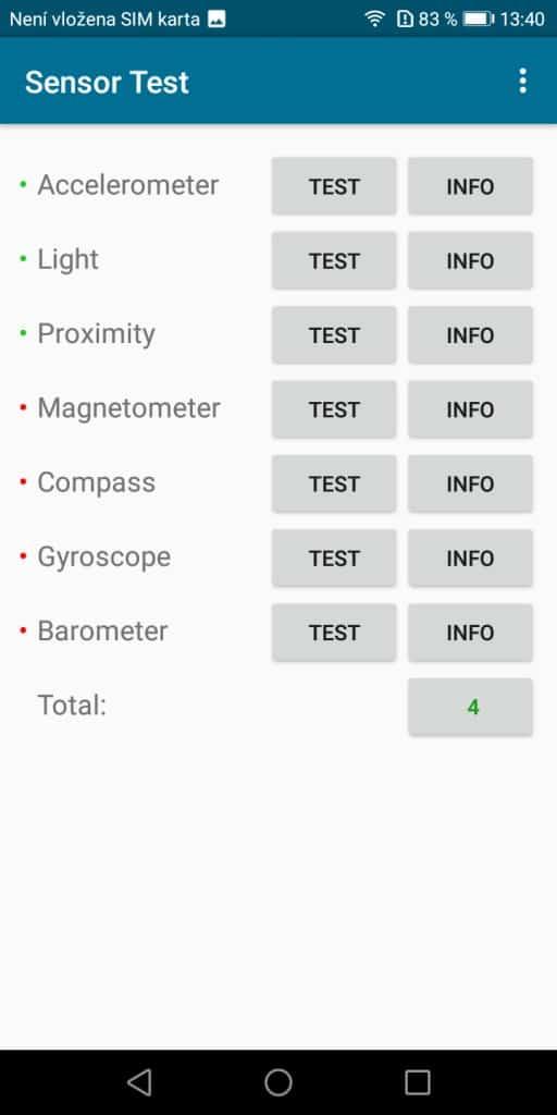 Honor 7S 2GB/16GB Dual SIM - senzory