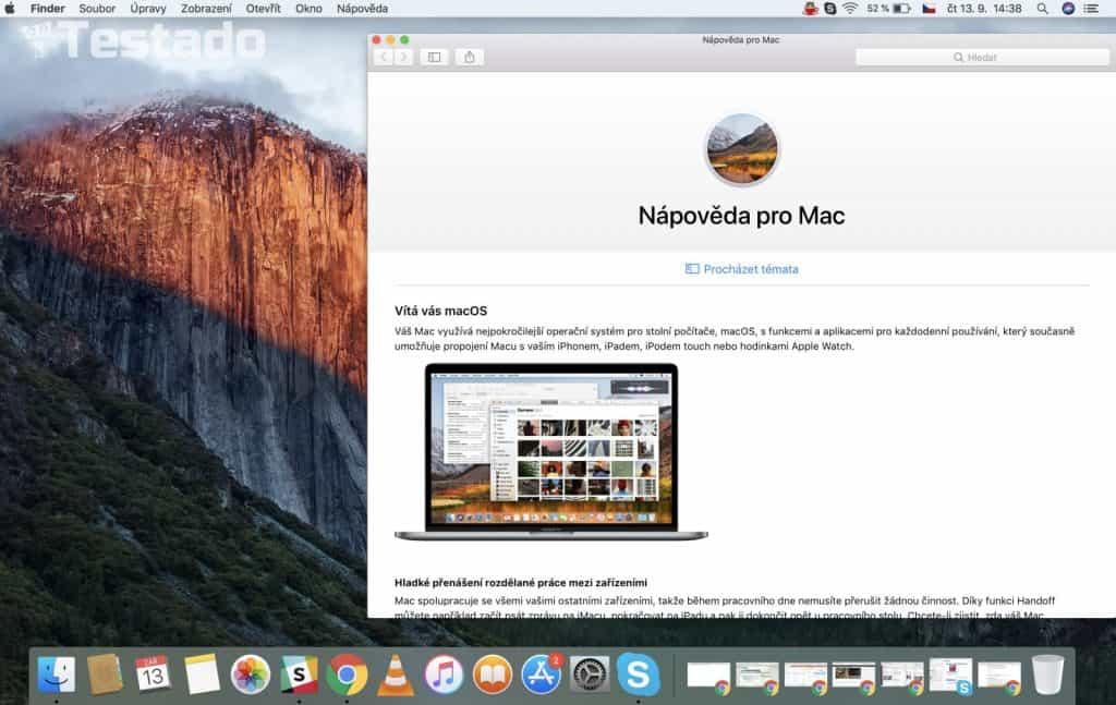 """MacBook Pro 13"""" Retina CZ 2017 - systém"""