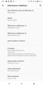 Sony Xperia XZ3 Dual SIM - systém