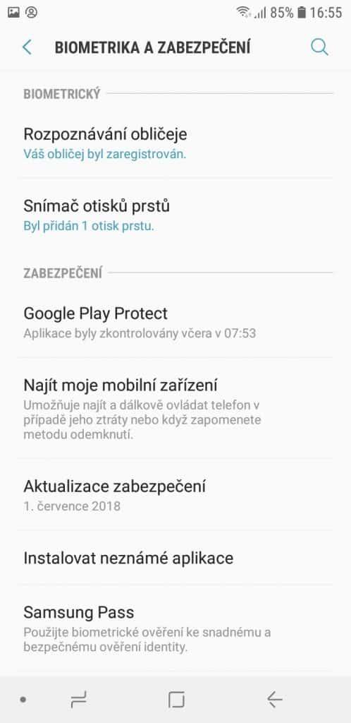 Samsung Galaxy A6 A600F Dual SIM - systém