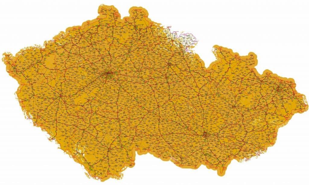 Orientační mapa pokrytí signálem DVB-T2