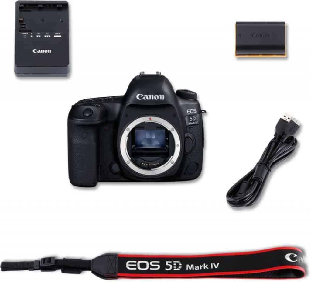 Test Canon EOS 5D Mark IV - obsah balení