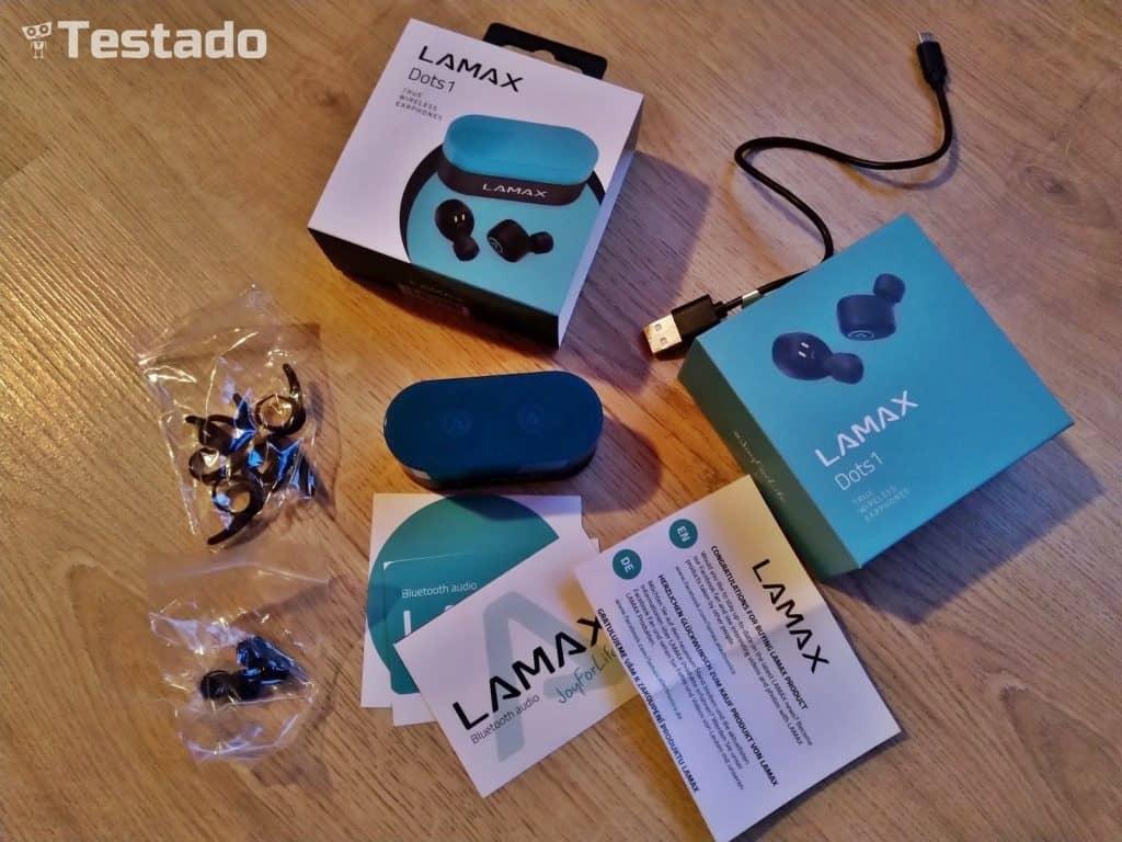Test a recenze LAMAX Dots1 - bluetooth sluchátka - obsah balení