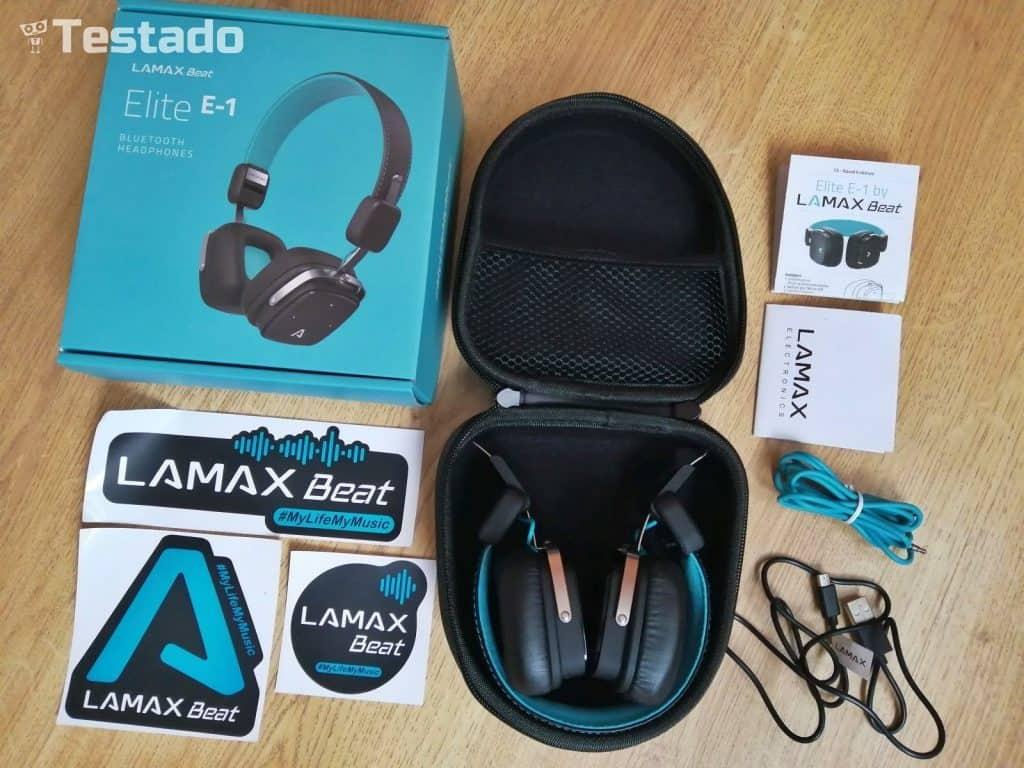 Test a recenze LAMAX Beat Elite E-1 - bluetooth sluchátka - obsah balení