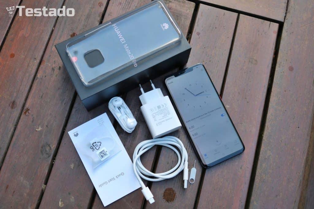 Test Huawei Mate 20 Pro 6GB/128GB - obsah balení