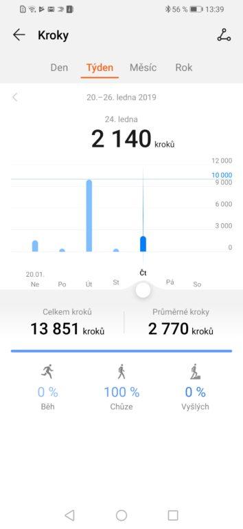 Test a recenze Huawei Watch GT chytré hodinky - aplikace