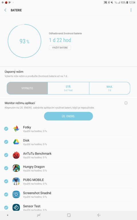 Recenze Samsung Galaxy Tab S4 - systém