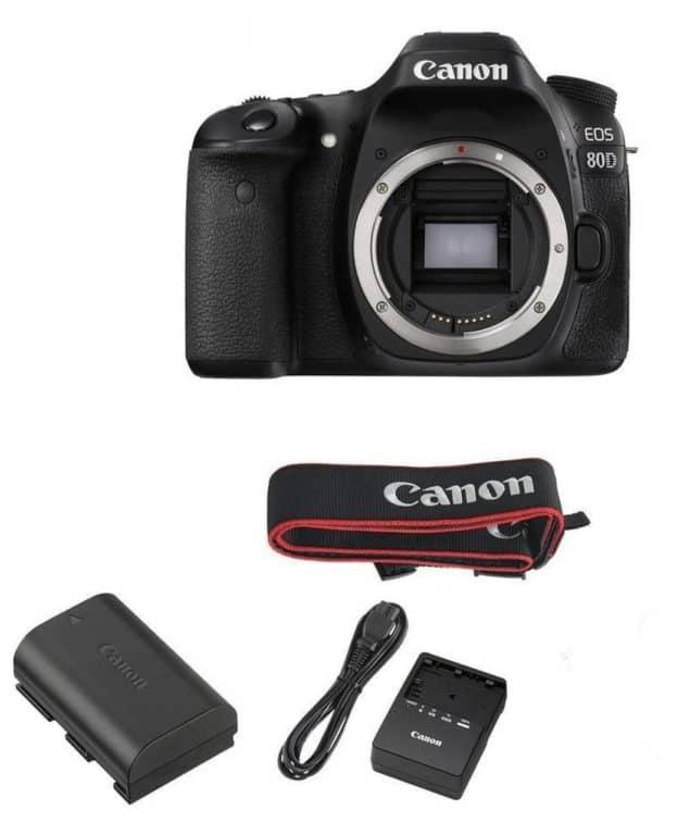 Recenze Canon EOS 80D - obsah balení