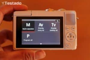 Recenze Canon EOS M100 - menu