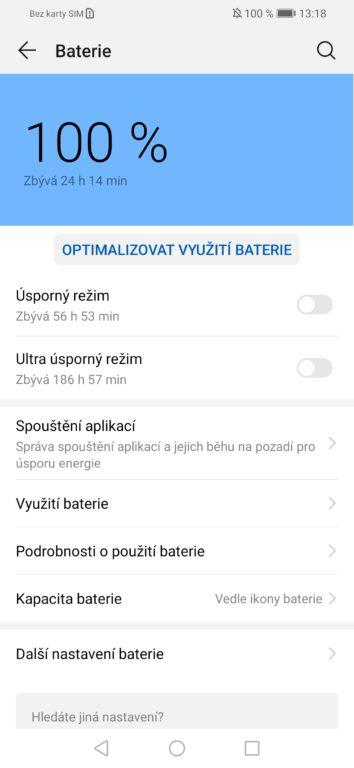 Huawei P smart 2019 - systém